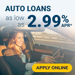 Auto Loans as low as 2.49% APR*. Apply Online